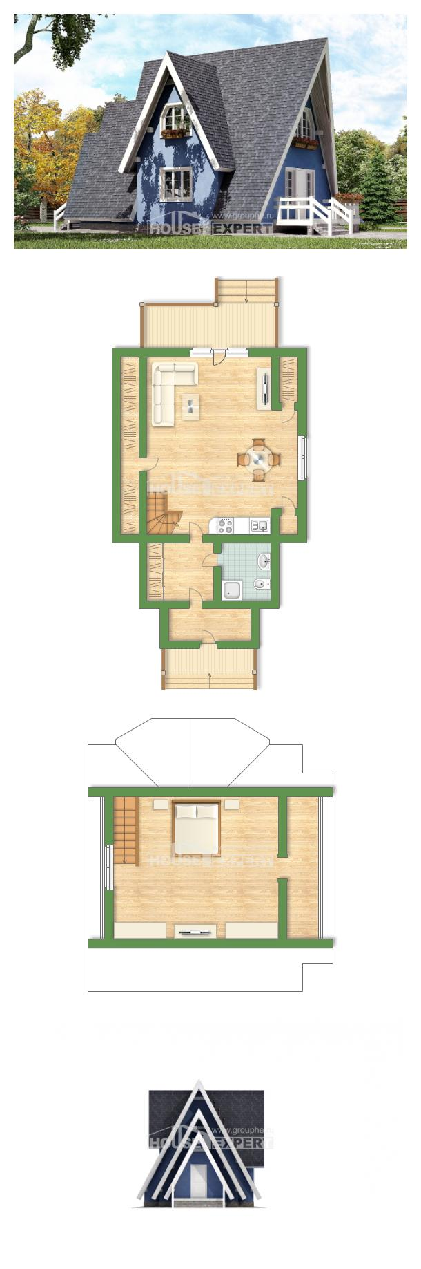 Проект дома 100-002-П   House Expert